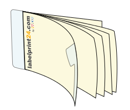 Booklet labels with a printed or unprinted base label, for example, with number codes for sweepstakes, etc.
