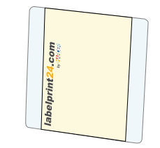 Simple booklet labels with unprinted base labels