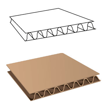 corrugated board sheet - FEFCO 0110