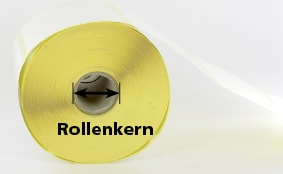 Cores for roll labels