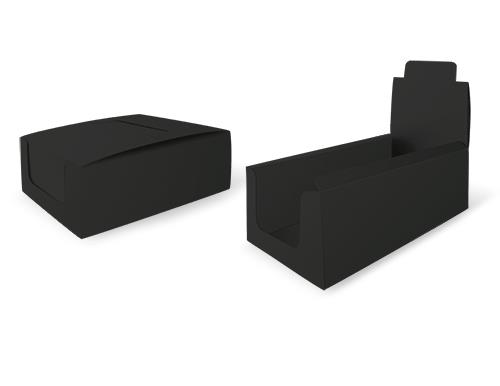 Black counter display - natural cardboard