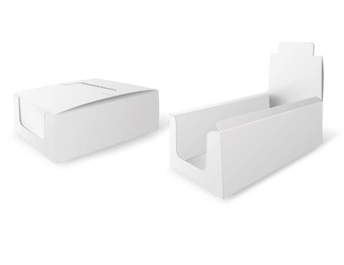White counter display - brilliant white cardboard