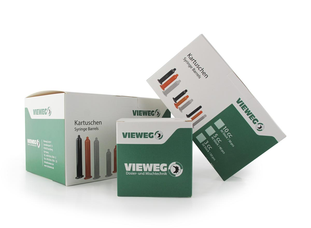 Folding box with tuck-in flap and safety flap for Vieweg products